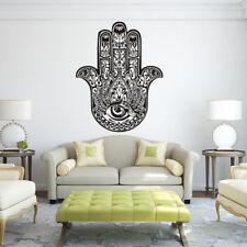 Wall Decals Hamsa Hand Eye Yoga Home Decor Indian Buddha Wall Stickers Vinyl