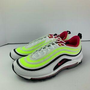 Nike Men's Air Max 97 White Rush Pink Black Volt CI9871-100 Sizes 12,13