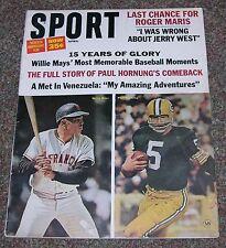 Sport Magazine - April 1966 - Hornung, Mays, Maris, Packers, Yankees - No Label