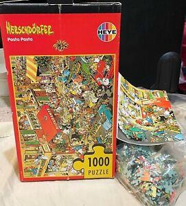HEYE Herschdorfer PASTA PASTA 1,000 PC JIGSAW Triangular Puzzle, Poster COMPLETE