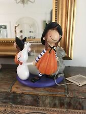 New Halloween Candle Jar Circle Witches Ghost & Cat