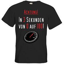 getshirts - RAHMENLOS® Geschenke - T-Shirt - Fun - in 3 Sekunden von 0 auf 180..
