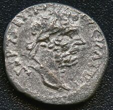 "Ancient Roman Silvered Coin "" Septimius Severus "" 193 - 211 A.D. 17 mm Diameter"