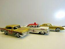 Hotwheels by Mattel & Maisto 3 Car Set Studebaker Avanti, 2 x '57 Chev Bel Air
