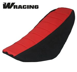 Pit Bike Seat Cover Universal Gripper CW LOGO CRF50 CRF70 CRF110 TTR KLX RED