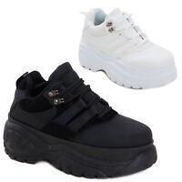 379694a75c079 Scarpe donna sneakers alte zeppa flatform eco pelle sportive doppio fondo  Q-8