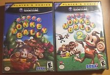 Super Monkey Ball 1 & 2 lot Player's Choice (Nintendo GameCube) Complete TESTED