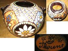 Piccolo VASO Thoune Thun Svizzera ceramica firmato raro!!! Edelweiss