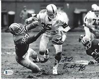 Fred Biletnikoff Autographed Oakland Raiders 8x10 Photo Beckett SB MVP / HOF 3
