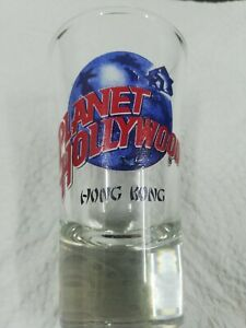 "New Never Used Planet Hollywood Hong Kong Shot Glass 3 1/2"" Tall Souvenir"