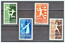 "LITHUANIA: 1938 Sc: LT-B43 - B46 ""First Baltic Sport Games"" Used Set"