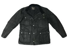 Barbour DUKE Men's Waxed Wax Cotton Jacket Coat Black Fitted L Large M 40 - £199