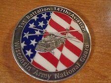 Wisconsin ANG 1st Battalion 147th Aviation BN Commander Award Challenge Coin