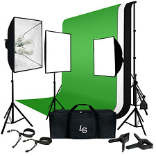 LimoStudio Photo Video Studio Four Light Head Continuous Lighting Stand Kit