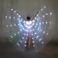 LED Dress Belly Dance LED Isis Wings Egyptian Club Light Up Show Ali LED Wings