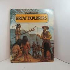 Living History: Great Explorers Tom Jauncey Ken Stott 1986 Hardback ex-library