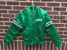Vintage Starter NFL NY New York Jets Satin Jacket Size Small Football 80s or 90s