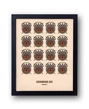 Groundhog Day Print, Bill Murray, Harold Ramis, Phil Connors, Punxsutawney Phil