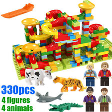 330pcs Construction Building Block Brick Toy Small Size Marble Run Set