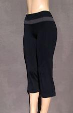 Perfect CK Calvin Klein Performance Gray Black Yoga Crop Capri Pants Gym XS - S