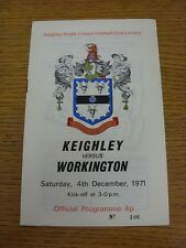 04/12/1971 Rugby League Programme: Keighley v Workington Town