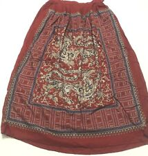 Talbots Women's Skirt Red Pattern Lined Small Size