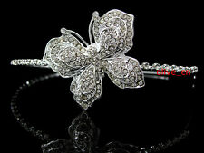 Full Crystal Big Butterfly Bridal Bridesmaid Prom Party SIDE Tiara Headband