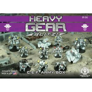 Heavy Gear Blitz CEF Army Box Set (11 Models) DP9-9342