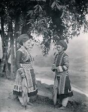 LAO-KAY c. 1935 - Femmes Méo Tonkin Indochine - DIV 9465