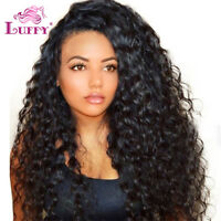 Curly Malaysian Human Hair Full Lace Wigs Pre Plucked Lace Front Wigs For Women