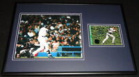 Dave David Justice Signed Framed 12x18 Photo Display Yankees Braves