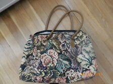 New Knitting Bag ,Crochet Tote Bag Floral for Yarn Storage with zipper