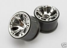 "5671 Traxxas Wheels Geode 3.8"" Chrome 2 Use With 17mm Splined Wheel Hubs & Nuts"