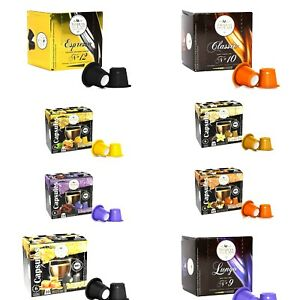 Nespresso Compatible Coffee Capsules Regular and Flavored Espresso Pods Variety