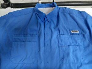 NEW COLUMBIA Men's PFG Short Sleeve Fishing Shirt UPF 30 Vented 3XL