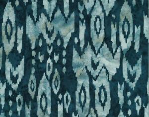 Rayon Batik Southwest Aztec Navy Blue Hand-Dyed Batik Fabric by Yard D176.13