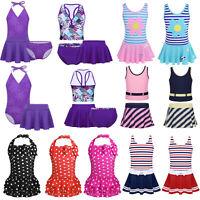 Kids Toddler Girls Swimwear Swimsuit Tankini Bikini Bathing Beachwear Costume