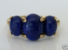 Beautiful 9ct Gold Dumortierite Ring Size N