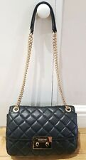 MICHAEL KORS Sloan Quilted Black Soft Leather Shoulder/ Crossbody Bag gold chain