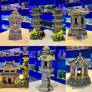 Japanese   Oriental  Themed Aquarium Ornaments - Buddha Pagoda Bonsai Decoration