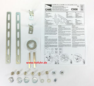 CAME Befestigungsset für alle 1 Zoll Sektionaltorantriebe / Industrietorantriebe