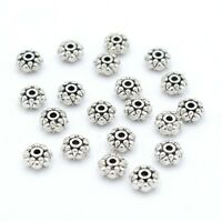 Antiqued Silver Style Metal Spacer Rondelle Beads Finding Jewelry Crafting 20 Pc