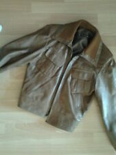 blouson cuir marron taille 36