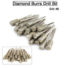 """15mm Cone Diamond Coated Grinding Head Burr Bit Mounted Point 1//4/"""" Shank 46 Grit"""