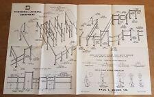 Original Vintage Poster Midcentury Paul Dodd Construction Turnstile Advertising
