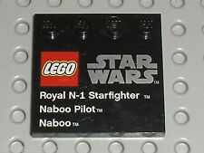 LEGO STAR WARS Tile 6179 73131 / Set 9674 Naboo Starfighter & Naboo