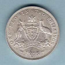 Australia.   1915-H Florin..   aEF/EF - Much Lustre