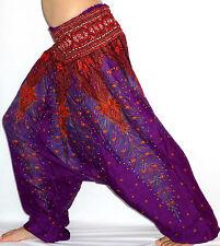 Sarouel Femme Pantalon Ethnique Aladin Harem Pant Aladdin yoga violet purple