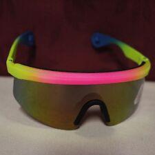 OCCHIALI DA SOLE ciclismo UV-POLY CARBON LENSES colore ROSA-GIALLO
