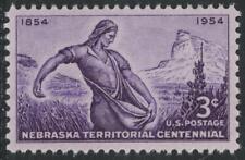 "Scott 1060- Nebraska Territory, ""The Sower""- MNH 3c 1953- unused mint US stamp"